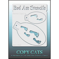 Bad Ass Copy Cat Stencil - Footprints - BACC 9043