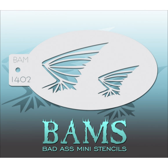 Bad Ass Mini Stencils - Bat Wings - BAM1402