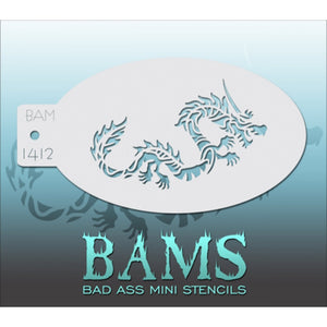 Bad Ass Mini Stencils - Chinese Dragon - BAM1412