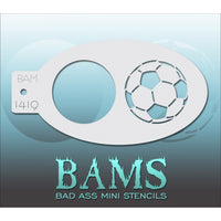 Bad Ass Mini Stencils - Sports Balls - BAM1419