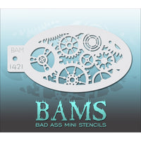 Bad Ass Mini Stencils - Gears - BAM1421