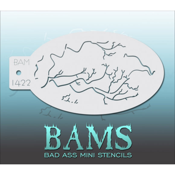 Bad Ass Mini Stencils - Cracks - BAM1422