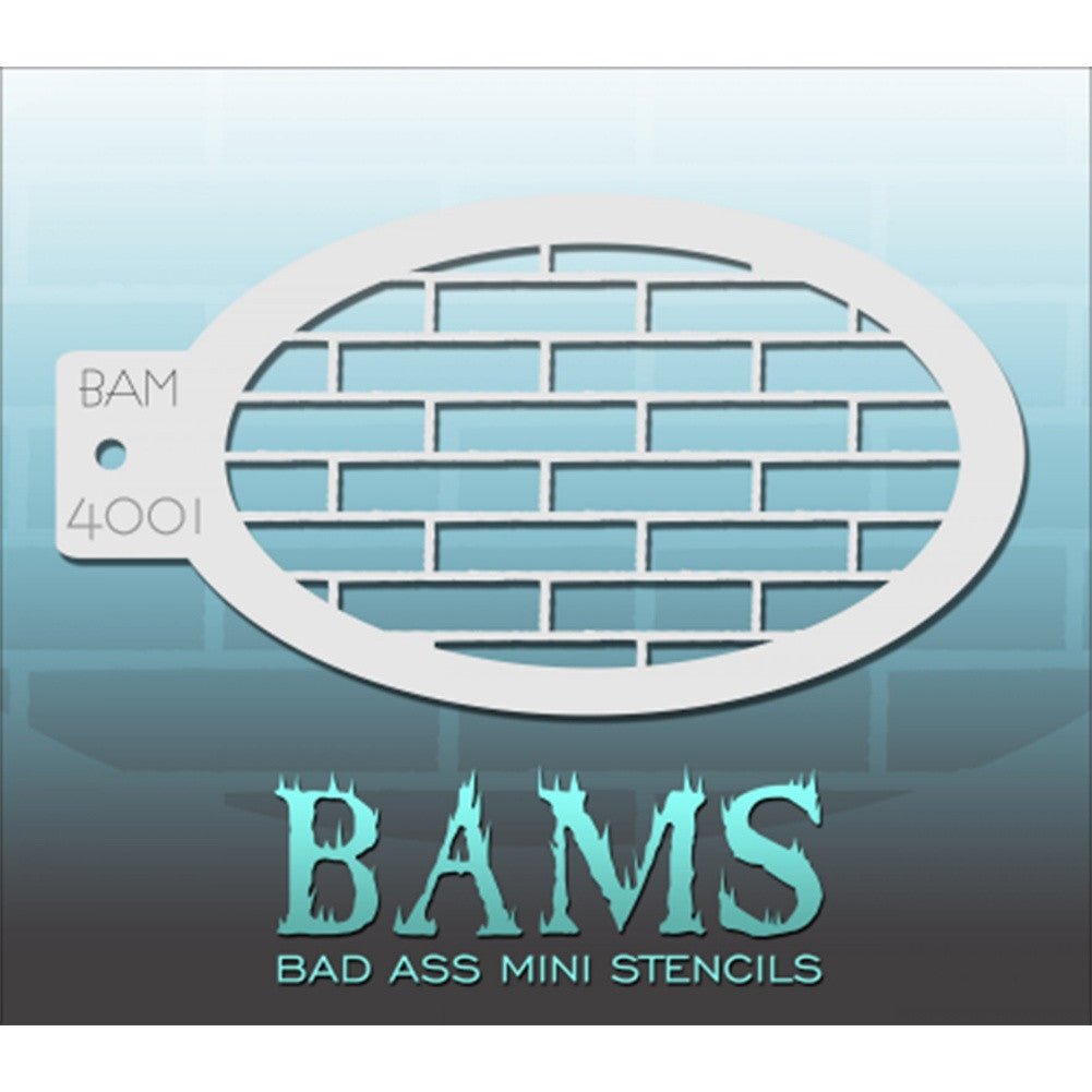 Bad Ass Mini Stencils - Bricks - BAM4001