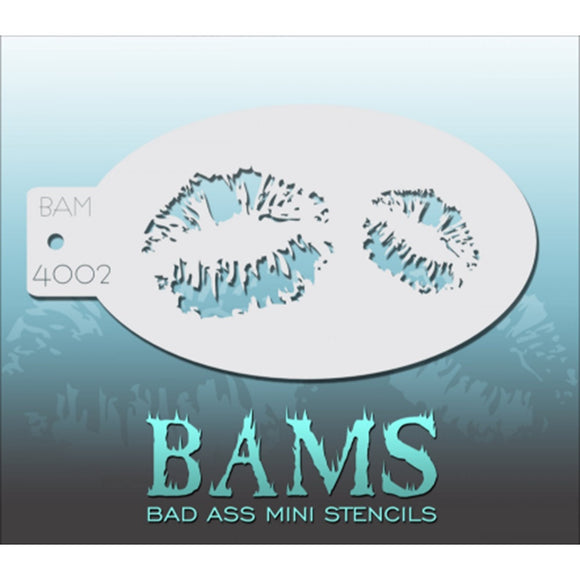 Bad Ass Mini Stencils - Lip Prints - BAM4002