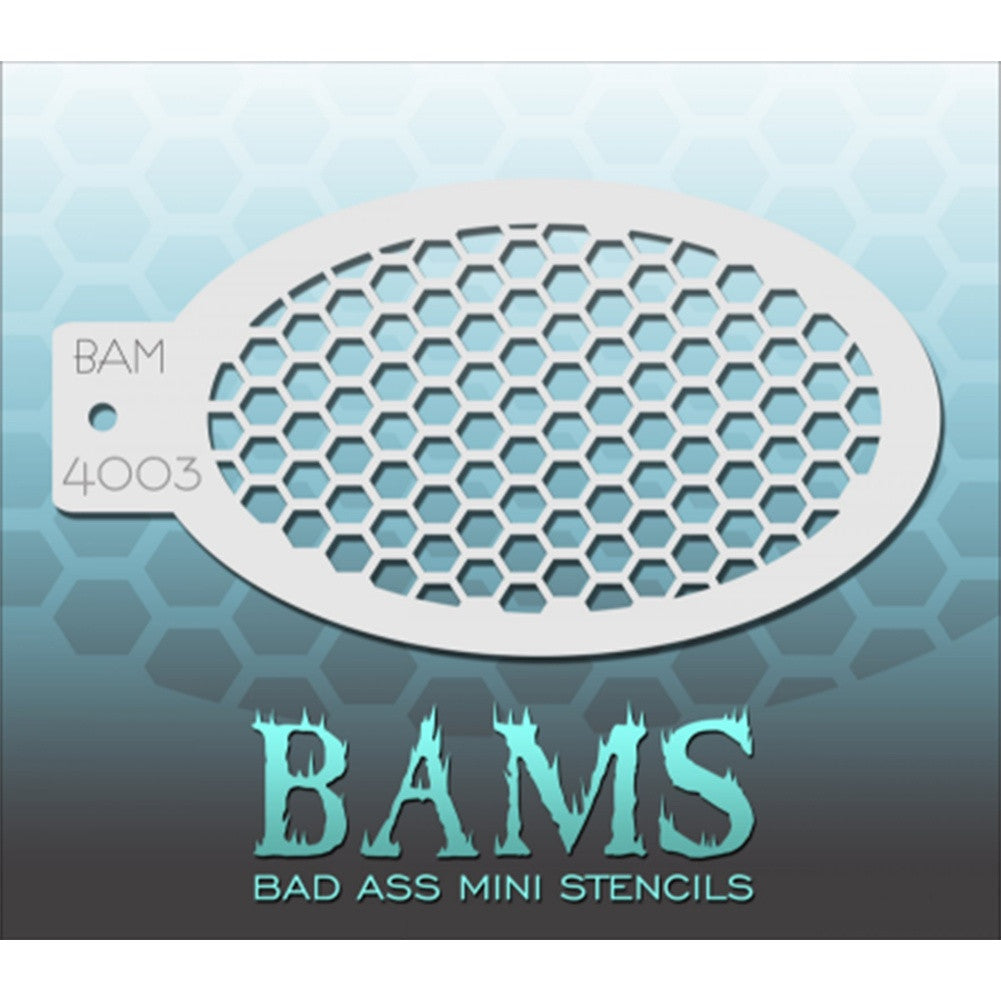 Bad Ass Mini Stencils - Honeycomb - BAM4003