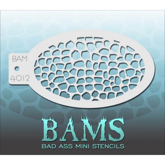 Bad Ass Mini Stencils - Amphibian Print - BAM4012