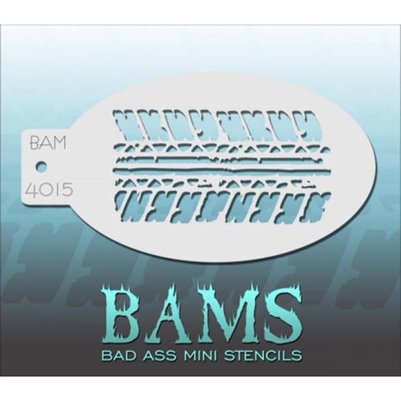 Bad Ass Mini Stencils - Tired Tread - BAM4015