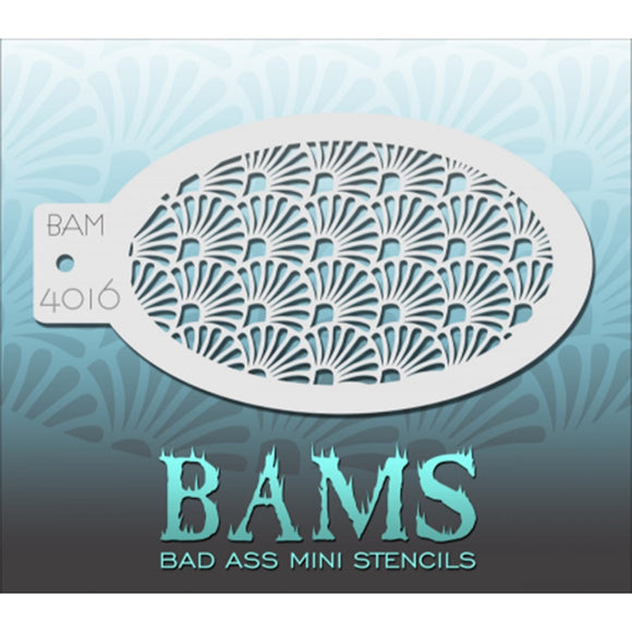 Bad Ass Mini Stencils - Fan Pattern - BAM4016