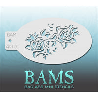 Bad Ass Mini Stencils - Dual Roses - BAM4017