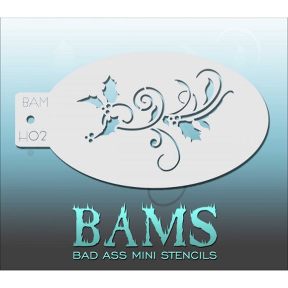 Bad Ass Mini Stencils - Holly - BAMH02