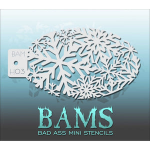 Bad Ass Mini Stencils - Winter Sparkle - BAMH03