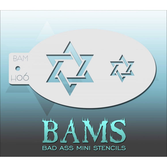 Bad Ass Mini Stencils - Star of David - BAMH06