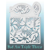Bad Ass Triple Threat Stencil - Jungle Love 7005