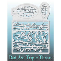 Bad Ass Triple Threat Stencil - Bamboozled 7008