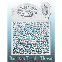 Bad Ass Triple Threat Stencil - TLizard Wizard 7012