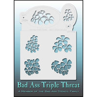 Bad Ass Triple Threat Stencil - Get Lei'd 7024