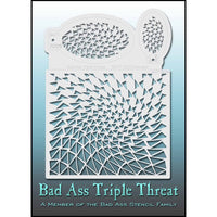 Bad Ass Triple Threat Stencil - Warped 7025