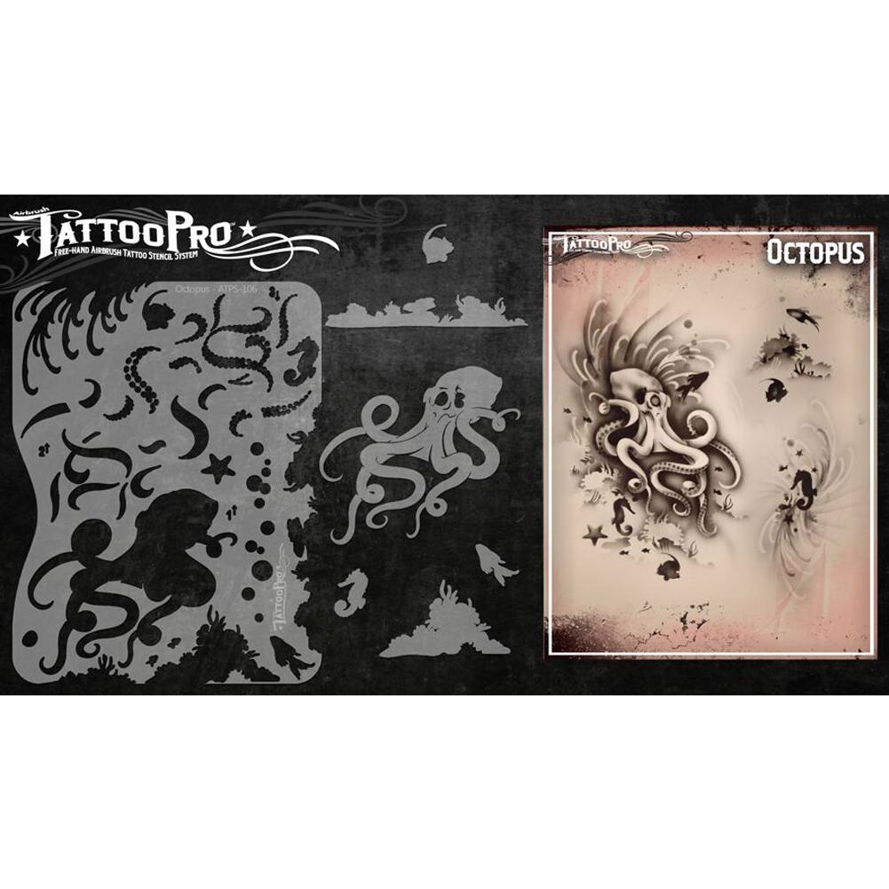 Tattoo Pro Series 1 Stencils - Octopus