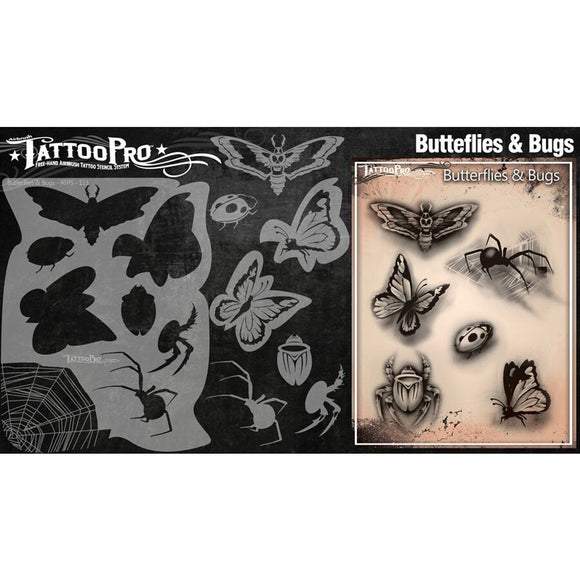 Tattoo Pro Series 2  Stencils - Butterflies & Bugs