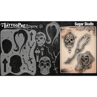 Tattoo Pro Series 2 Stencils - Sugar Skulls