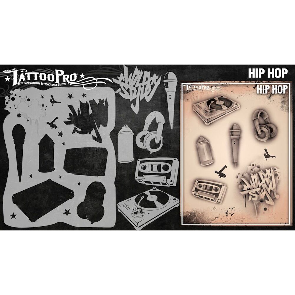 Tattoo Pro Series 3 Stencils - Hip Hop