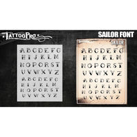 Tattoo Pro Font Stencils - Sailor