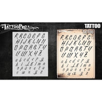 Tattoo Pro Font Stencils - Tattoo
