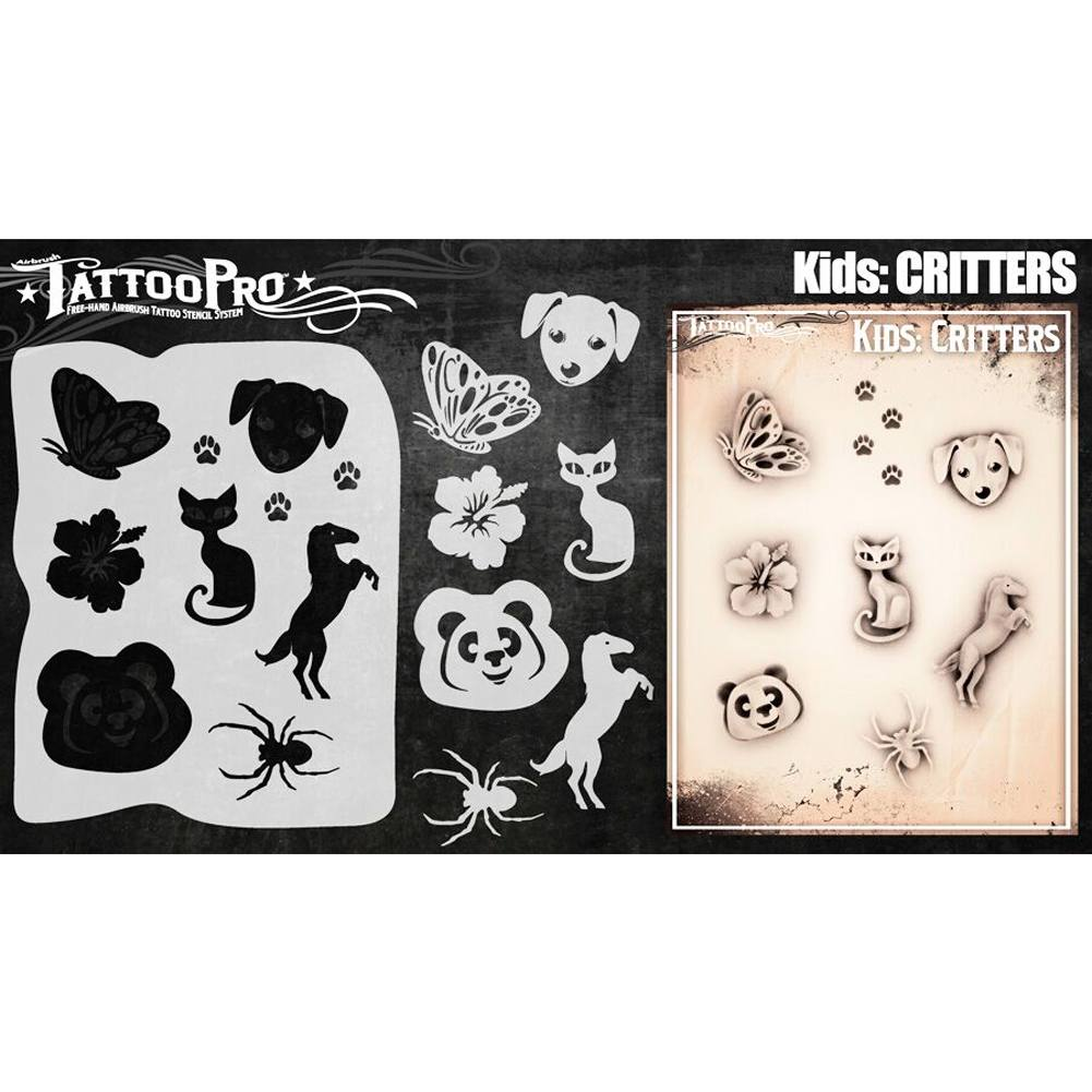 Tattoo Pro Kids Series Stencils - Critters