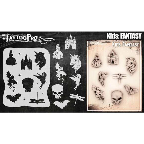 Tattoo Pro Kids Series Stencils - Fantasy