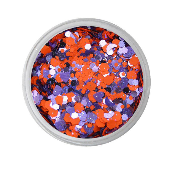 VIVID Glitter Fearless - Orange & Purple Chunky Glitter Mix