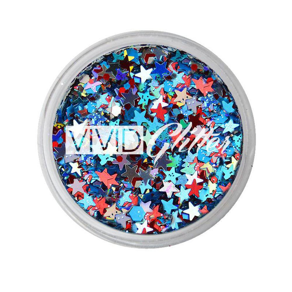 VIVID Glitter Red, White & Boom Chunky Glitter Mix (10 gm)