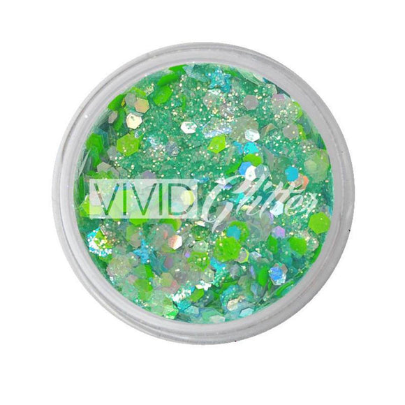 VIVID Glitter Sea Of Glass Chunky Glitter Mix (10 gm)