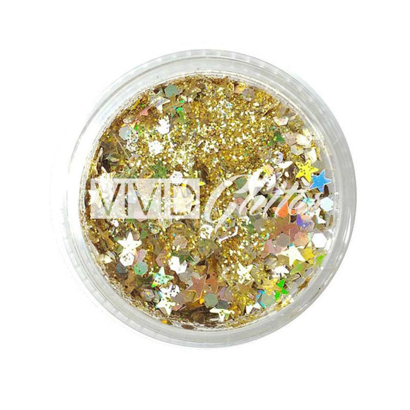 VIVID Glitter Gold Dust Chunky Glitter Gel (30 gm)