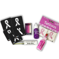 Breast Cancer Awareness Bling Face Painting Kit