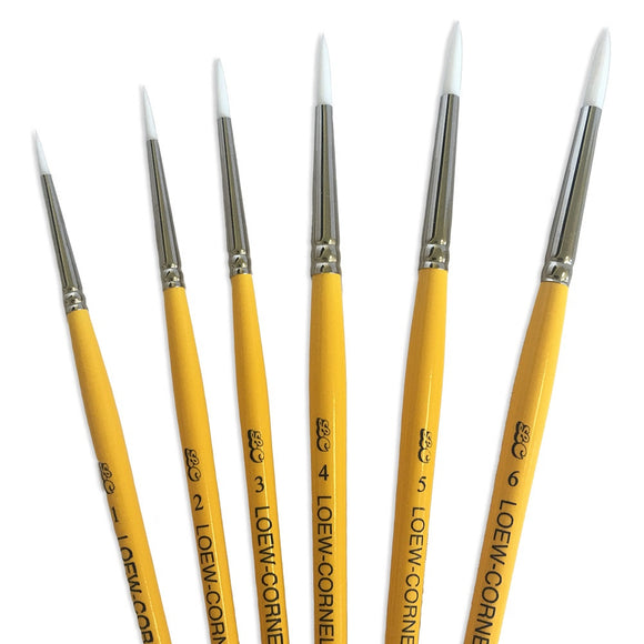 Loew-Cornell® Gold Grip 5-Piece Round Brush Set (#1, #2, #3, #4, #5, #6)