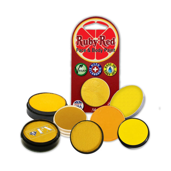 Face Paint Sampler Pack - Yellow Refills (Set of 9)