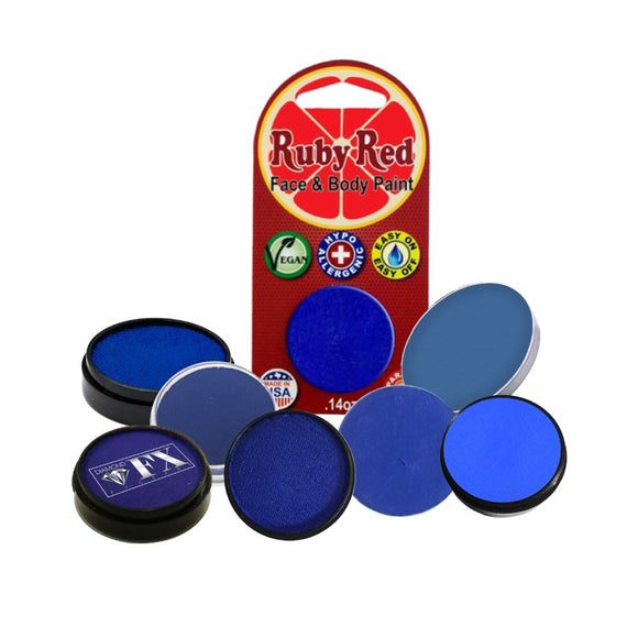 Face Paint Sampler Pack - Blue Refills (Set of 9)