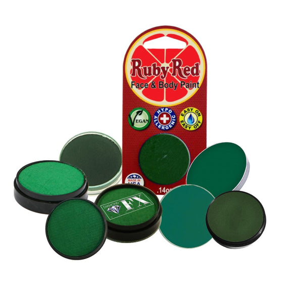 Face Paint Sampler Pack - Green Refills (Set of 8)