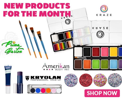 Professional Face Painting Supplies with Name Brands for