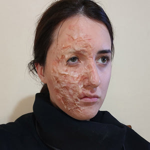Super Easy Tutorial For Burn Scar On Face by Cedoviste