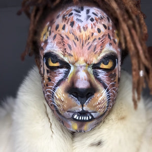 Cheetah Face Paint by Zuri Fx