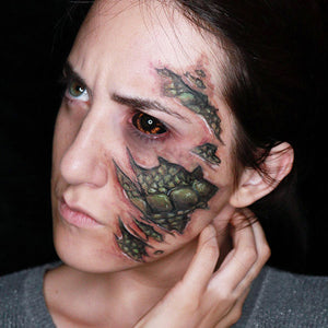 Snake Beneath Ripped Skin Makeup Video by Ana Cedoviste