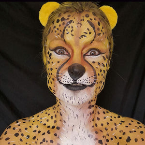 Cheetah Body Paint by Caroline