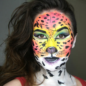 Lisa Frank Inspired Vibrant Cheetah by PTBarpun