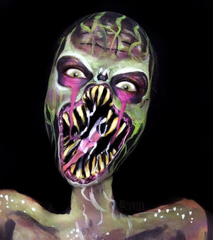 Underground Monster Makeup Video by Zuri Fx