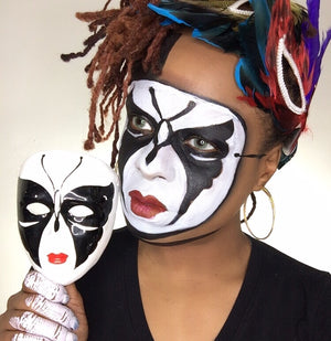 Mardi Gras Mime Mask by Zuri FX