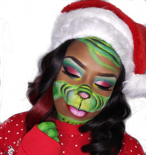 The Grinch Halloween Makeup by Zuri FX