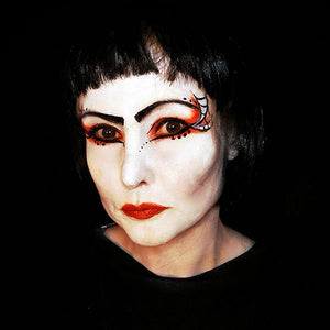 Geisha-inspired Goth Makeup by Caroline Healy