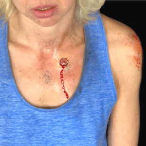 How to Make a 3rd degree Silicone Bullet Wound by Church Haley