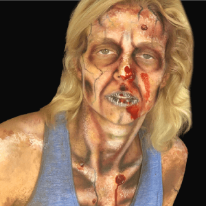 Video: How to do Zombie Makeup from a Special FX Artist by Church Haley